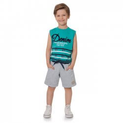 Conjunto Infantil Menino Time Kids Regata Denim 31835