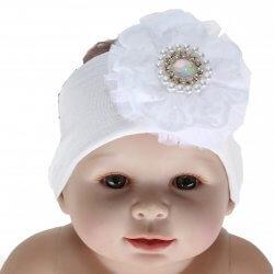 Faixa Paraíso Bebê Meia Calça Flor Lesie Strass 31702