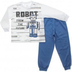 Pijama de Inverno Brandili Infantil Menino Moletinho Robot 30923