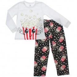 Pijama de Inverno Brandili Infantil Unissex Pipoca 31085