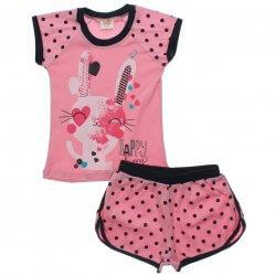 Pijama Infantil Have Fun Menina Coelha Shorts Poa 31907