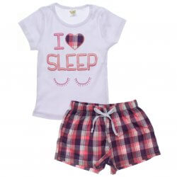 Pijama Infantil Have Fun Menina Coração I Sleep 31905