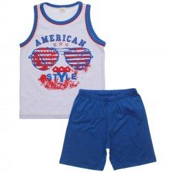 Pijama Infantil Have Fun Menino American Style Bermuda 31761