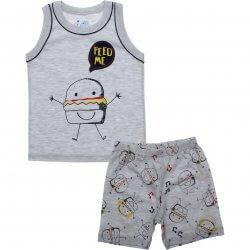 Pijama Infantil Have Fun Menino Regata Lanche e Bermuda Estampada 31908