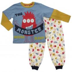 Pijama Inverno Have Fun Menino Malha Monster 31290