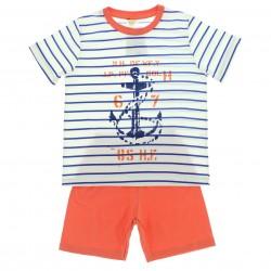 Pijama Verão Have Fun Infantil Menino Nautica Listrado 29234