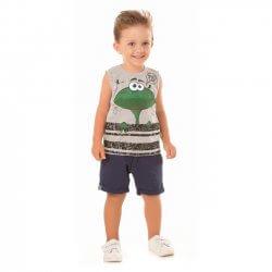 Regata Infantil Livy Menino Sapo Frog Boca Interativa 31779