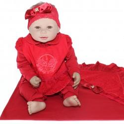 Saida Maternidade Paraíso Menina Macacão Sapatilha 29567