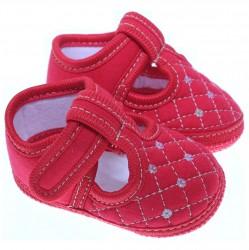 Sapato Keto Baby Menina Velcro Bordado Lantejoula 31262