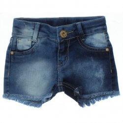 Shorts Jeans Infantil Jump Club Tachas e Barra Desfiada 31864
