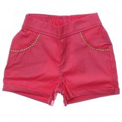 Shorts Sarja Infantil Colorittá Aplique Strass no Bolso 31505