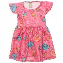 Vestido Infantil Colorittá Sorvetes Sublimados 31951