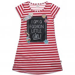 Vestido Infantil Elian Listrado Fashion Little Girl 31932