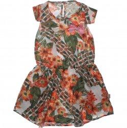 Vestido Infantil Trick Nick Floral Com Elástico Cintura 31884