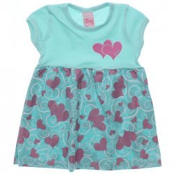 Vestido Livy Bebê Estampa Corações Glitter 31793