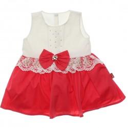 Vestido Paraíso Bebê Tachas Laço e Renda Cintura 30237