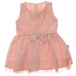 Vestido Paraíso Infantil Lurex Colar Tachas Laço 30230