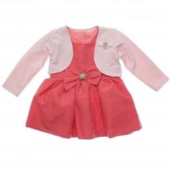 Vestido Paraíso Infantil Trabalhado Laço e Bolero Laço Strass 31172