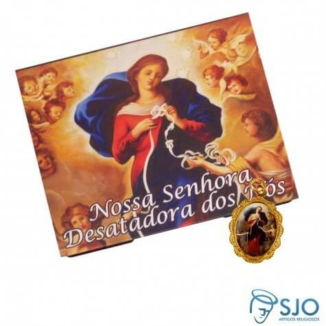 100 Cartões com Medalha de Nossa Senhora Desatadora dos Nós