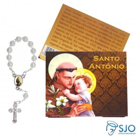 Cartão com Mini Terço de Santo Antônio