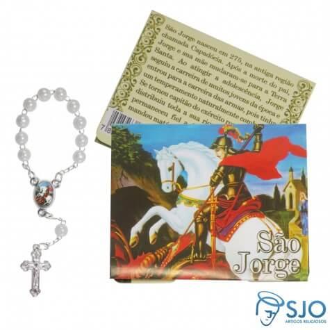 Cartão com Mini Terço de São Jorge