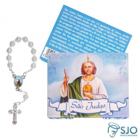 100 Cartões com Mini Terço de São Judas Tadeu