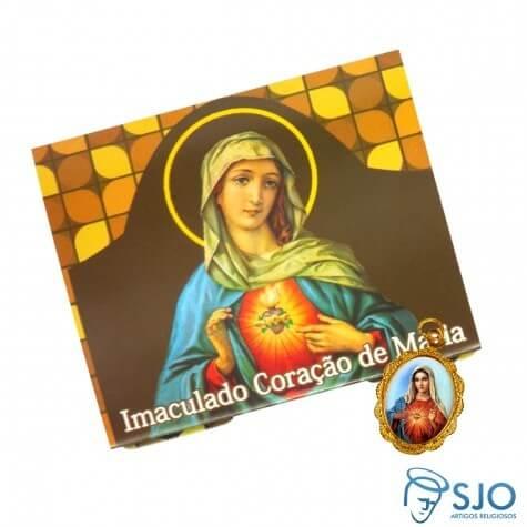 50 Cartões com Medalha do Imaculado Coração de Maria