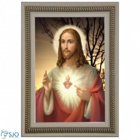 Quadro Religioso Sagrado Coração de Jesus - Mod. 4