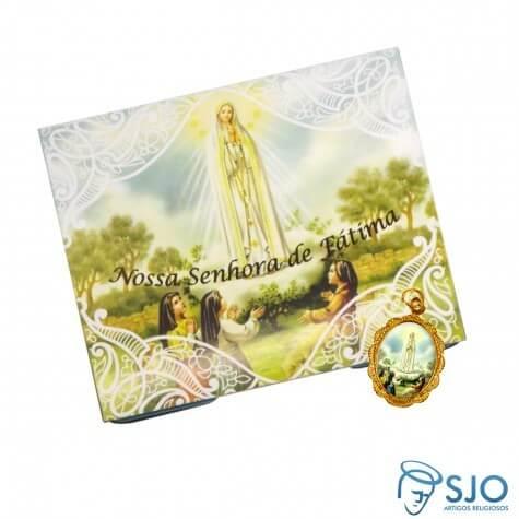 50 Cartões com Medalha de Nossa Senhora de Fátima