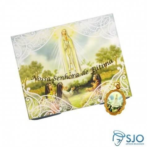100 Cartões com Medalha de Nossa Senhora de Fátima