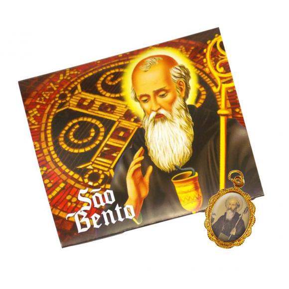 Cartão com Medalha de São Bento