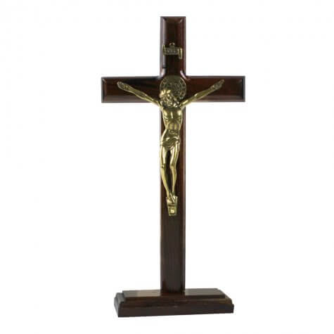 Crucifixo de São Bento para Parede/Mesa - 19 cm