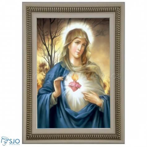 Quadro Religioso Sagrado Coração de Maria - 90 x 60 cm