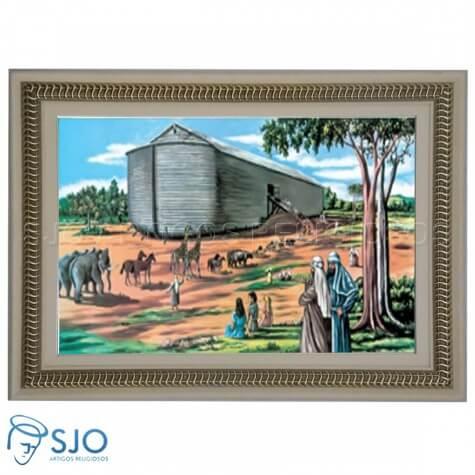 Quadro Religioso Arca de Noé - 70 x 50 cm