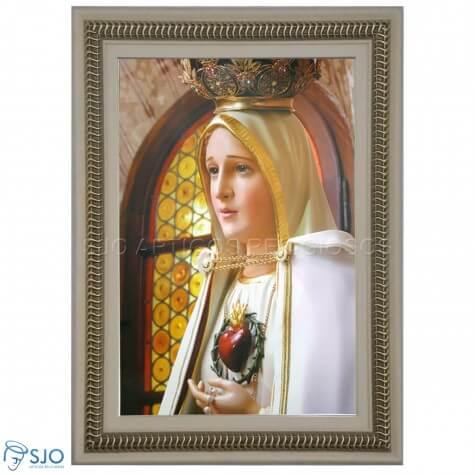 Quadro Religioso Coração Nossa Senhora de Fátima - 70 x 50 cm