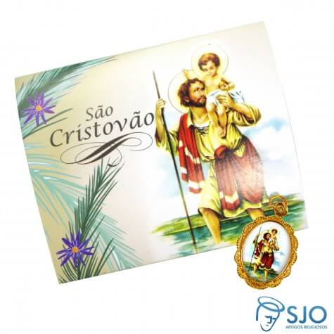 Cartão com Medalha de São Cristóvão