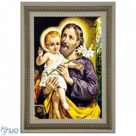 Quadro Religioso São José - 70 x 50 cm