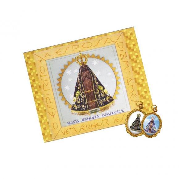 Cartão com Medalha de Nossa Senhora Aparecida