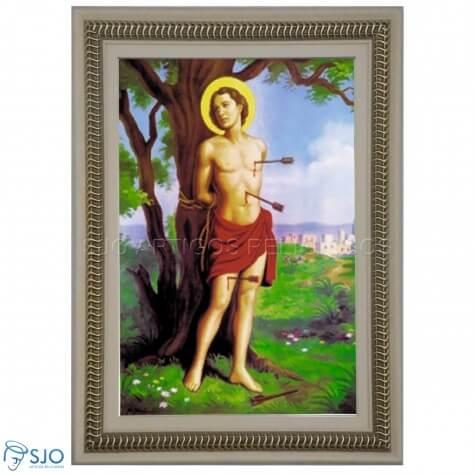 Quadro Religioso São Sebastião - 70 x 50 cm