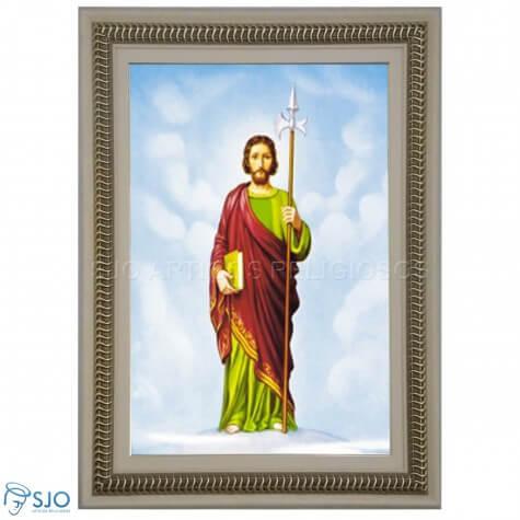 Quadro Religioso São Judas Tadeu - 70 x 50 cm