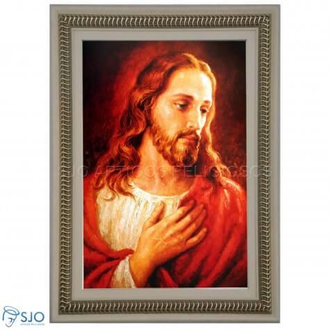 Quadro Religioso Face de Jesus - 70 x 50 cm - Mod. 2
