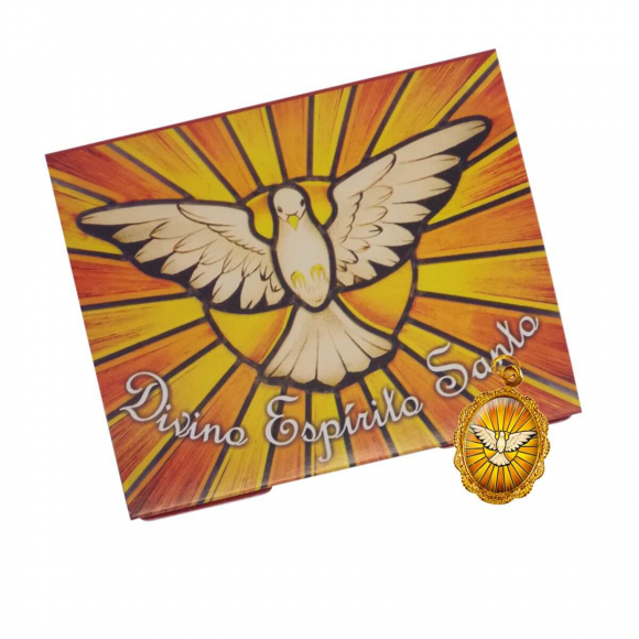Cartão com Medalha do Divino Espírito Santo