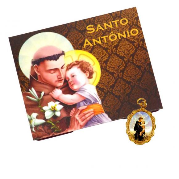 Cartão com Medalha de Santo Antônio