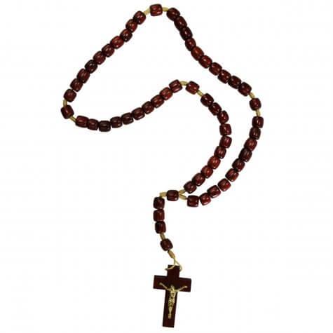 Terço de Madeira com Cristo