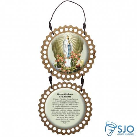 Adorno de Porta Redondo - Nossa Senhora de Lourdes