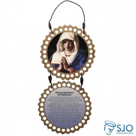 Adorno de Porta Redondo - Nossa Senhora do Silêncio