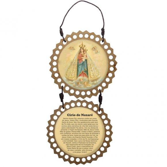 Adorno de Porta Redondo Duas Peças - Nossa Senhora de Nazaré
