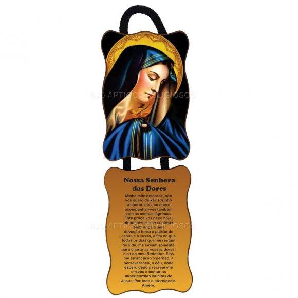 Adorno de Porta Retangular - Nossa Senhora das Dores - Mod 01