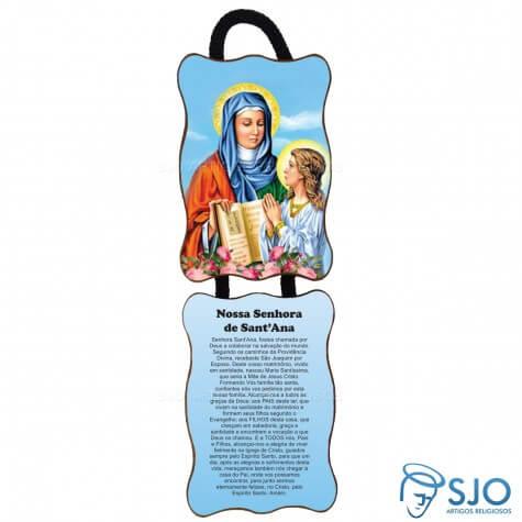 Adorno de Porta Retangular - Nossa Senhora Santana