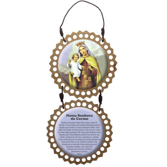 Adorno de Porta Redondo - Nossa Senhora do Carmo